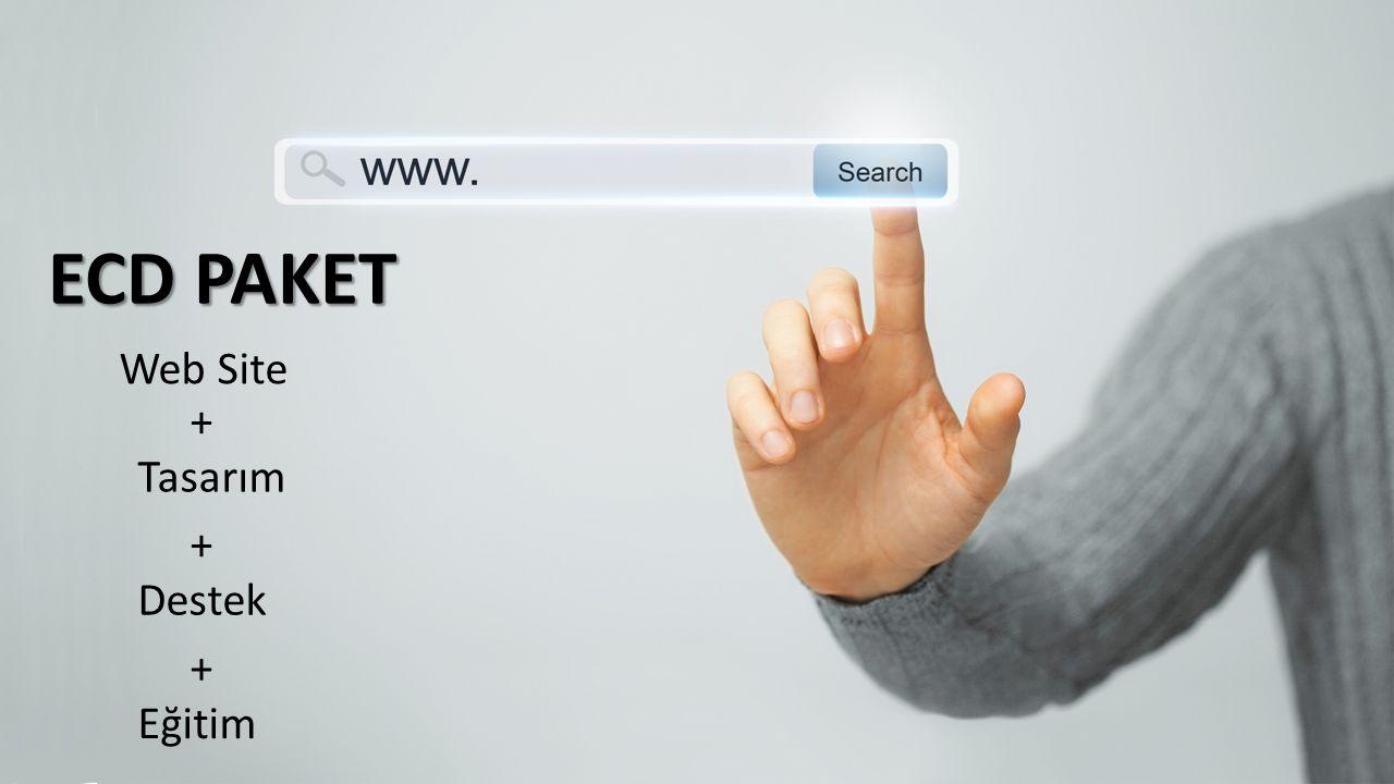ECD PAKET Web Site + Tasarım + Destek + Eğitim