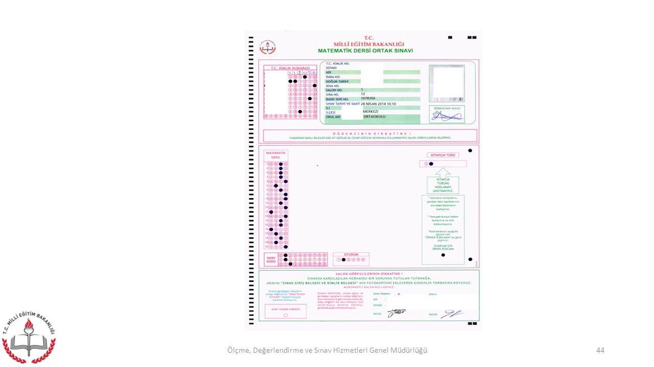 44Ölçme, Değerlendirme ve Sınav Hizmetleri Genel Müdürlüğü
