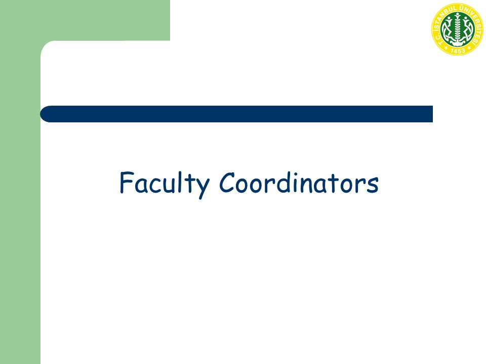 Faculty Coordinators