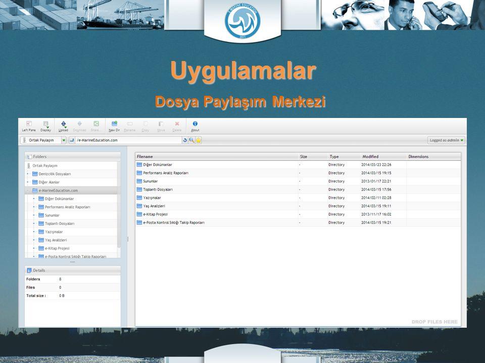 Uygulamalar Dosya Paylaşım Merkezi
