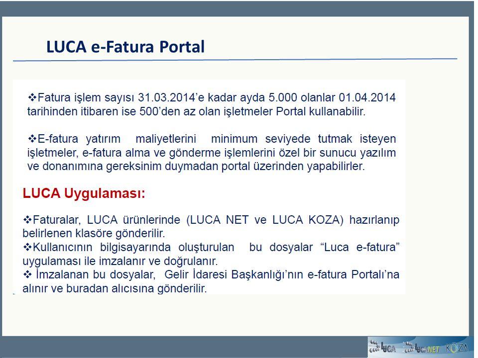 LUCA e-Fatura Portal