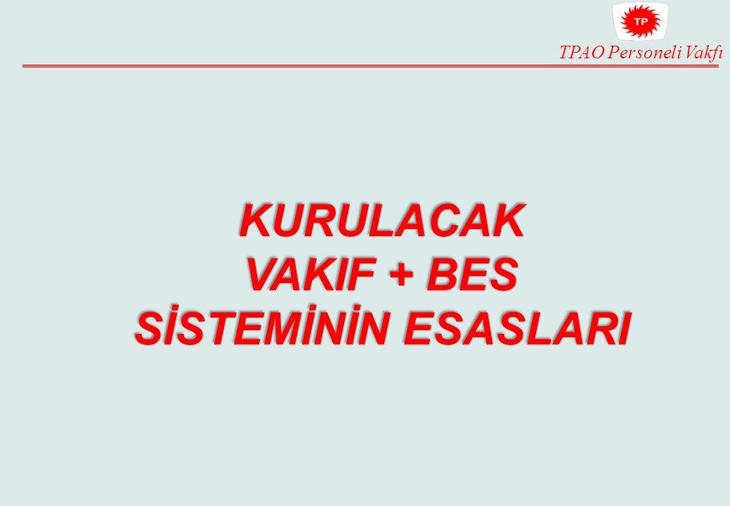 TPAO Personeli Vakfı KURULACAK VAKIF + BES SİSTEMİNİN ESASLARI