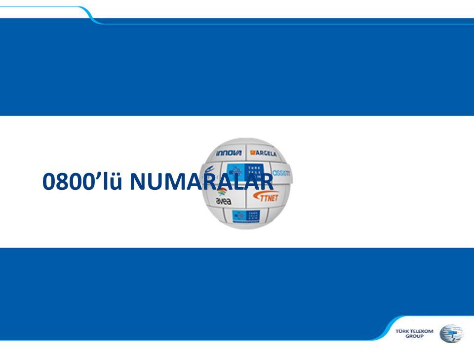 , 0800'lü NUMARALAR