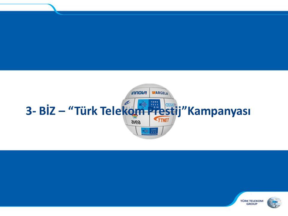 """, 3- BİZ – """"Türk Telekom Prestij""""Kampanyası"""