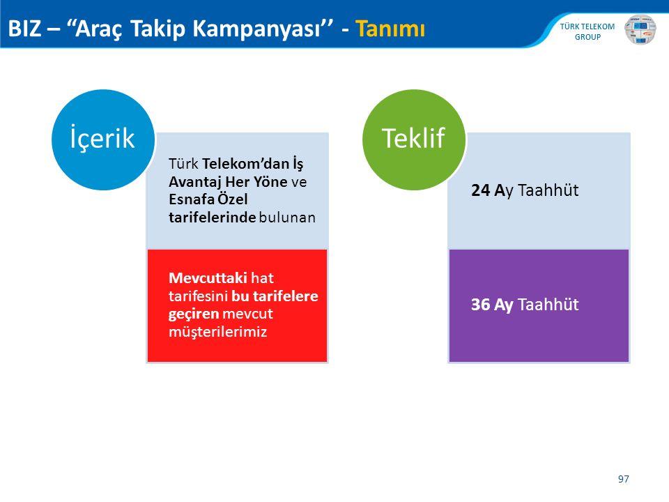 """, TÜRK TELEKOM GROUP 97 BIZ – """"Araç Takip Kampanyası'' - Tanımı Türk Telekom'dan İş Avantaj Her Yöne ve Esnafa Özel tarifelerinde bulunan Mevcuttaki h"""