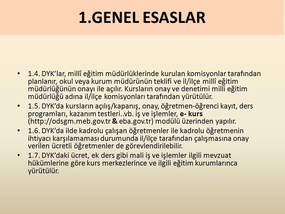 1.GENEL ESASLAR 1.4.