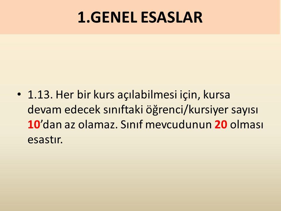 1.GENEL ESASLAR 1.13.