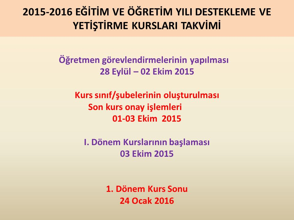 5.KURSLARA (ÖĞRENCİ/KURSİYER) BAŞVURU (21 EYLÜL-2 EKİM) 5.5.