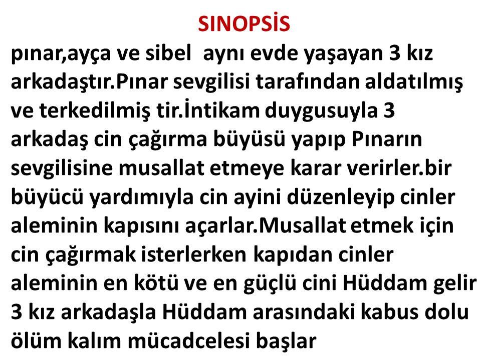 SINOPSİS pınar,ayça ve sibel aynı evde yaşayan 3 kız arkadaştır.Pınar sevgilisi tarafından aldatılmış ve terkedilmiş tir.İntikam duygusuyla 3 arkadaş