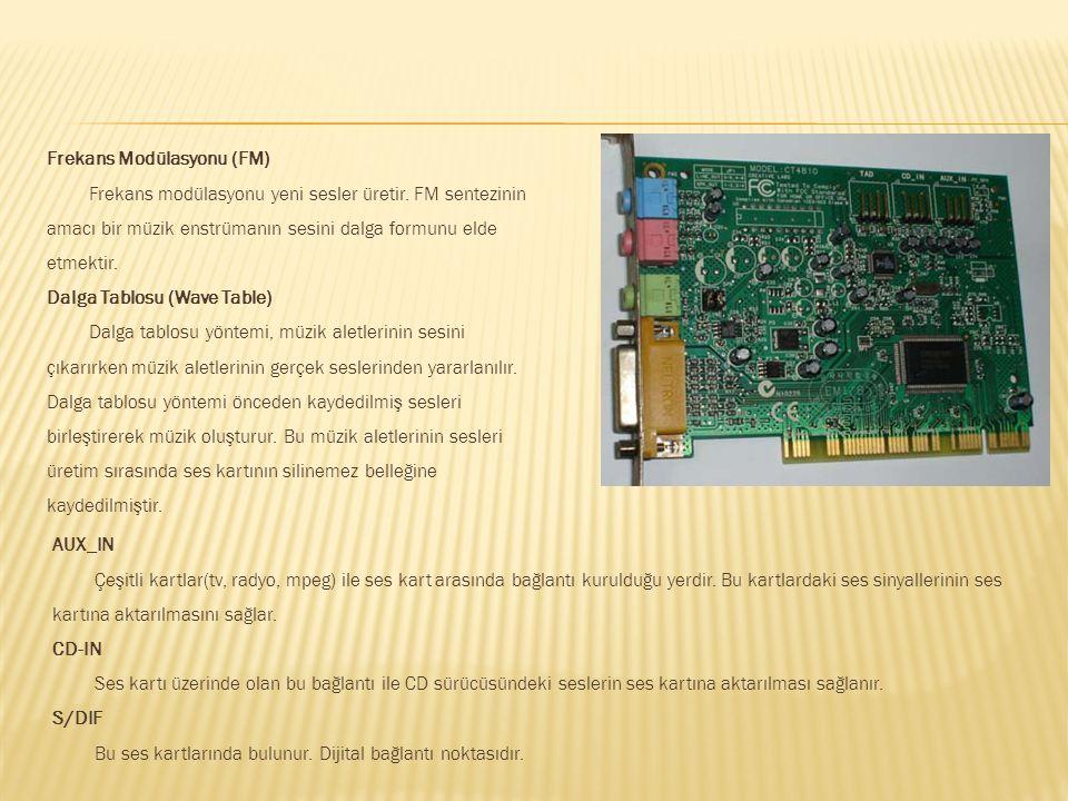 Ses kartı bilgisayardaki dijital ses verilerini analog ses sinyallere, analog ses sinyallerini de bilgisayarda işlenebilecek dijital sinyallere dönüşt
