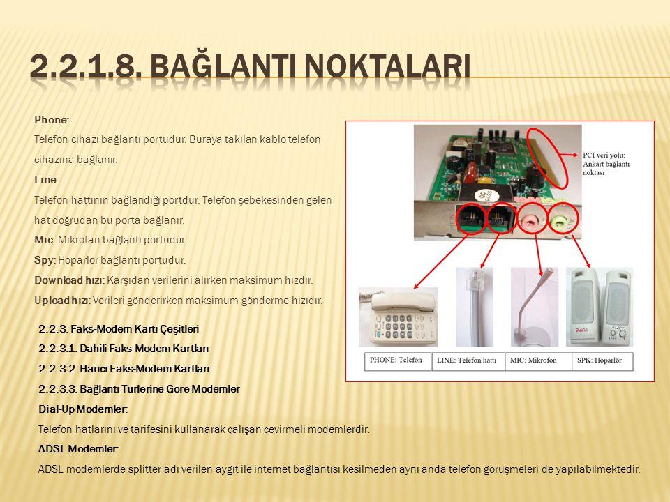 V.32, V.34, V.90, V.92 gibi modem standartları vardır. Bu standartların veri iletim hızları birbirinden farklıdır. Faks-modem ile internete bağlı oldu