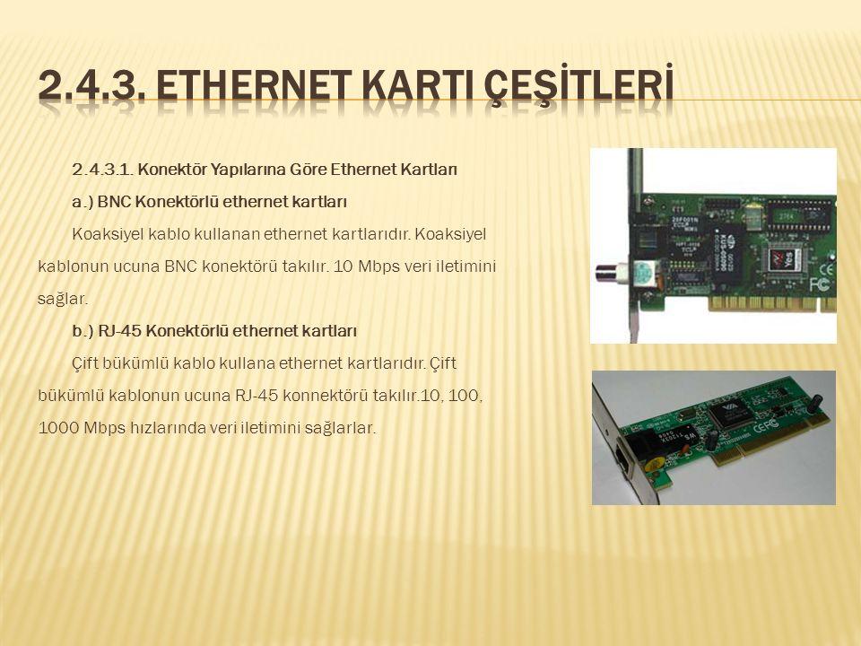Ethernet kartı, bilgisayar ağlarında bilgisayarla ağ arasında iletişimi sağlar. Anakartın genişleme yuvalarına takılır. Diz üstü bilgisayarlarda PC Ca