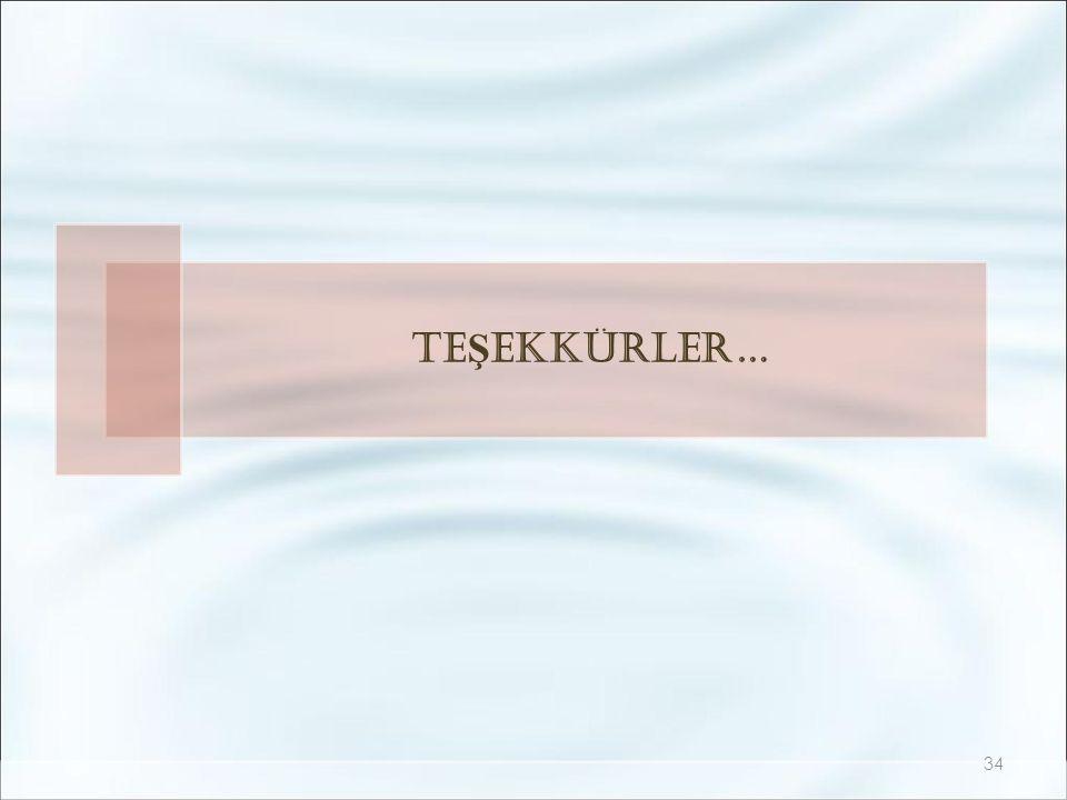 TE Ş EKKÜRLER… 34