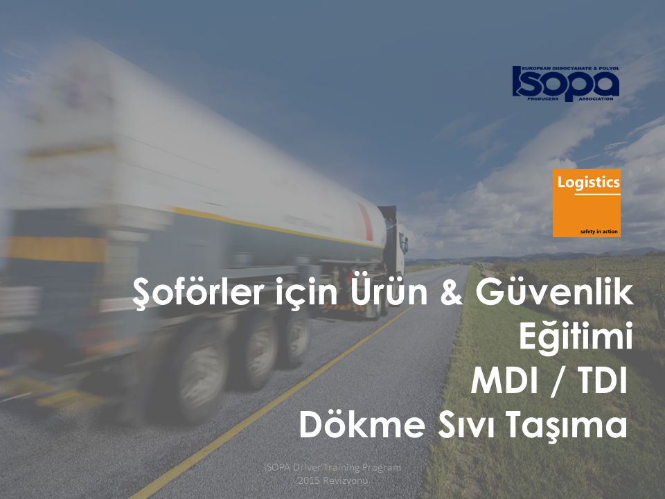 ISOPA Driver Training Program 2015 Revizyonu 42 Döküntü Tavası Yerleşimi (örnek) Sıvı hattı ve buhar geri dönüş hatları net şekilde tanımlanmalı Vapour Sıvı Basınç
