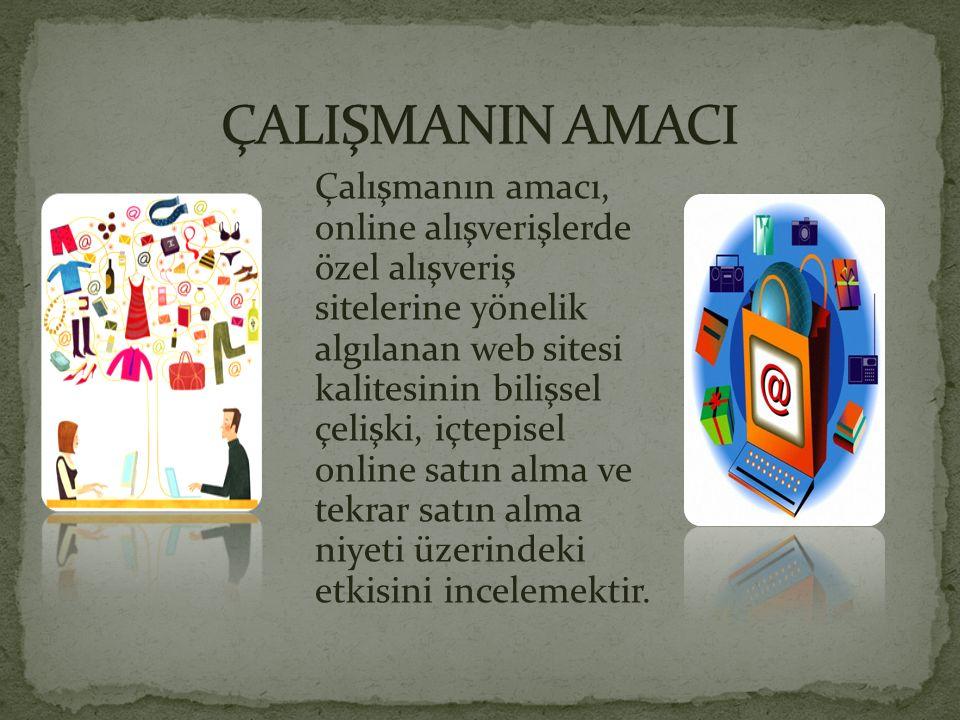 Çalışmanın amacı, online alışverişlerde özel alışveriş sitelerine yönelik algılanan web sitesi kalitesinin bilişsel çelişki, içtepisel online satın al