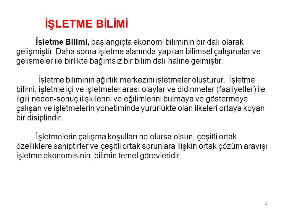 İŞLETMEDE MALİYETLERİN KULLANIM ALANLARI 1.İşletme Karının Hesaplanması 2.