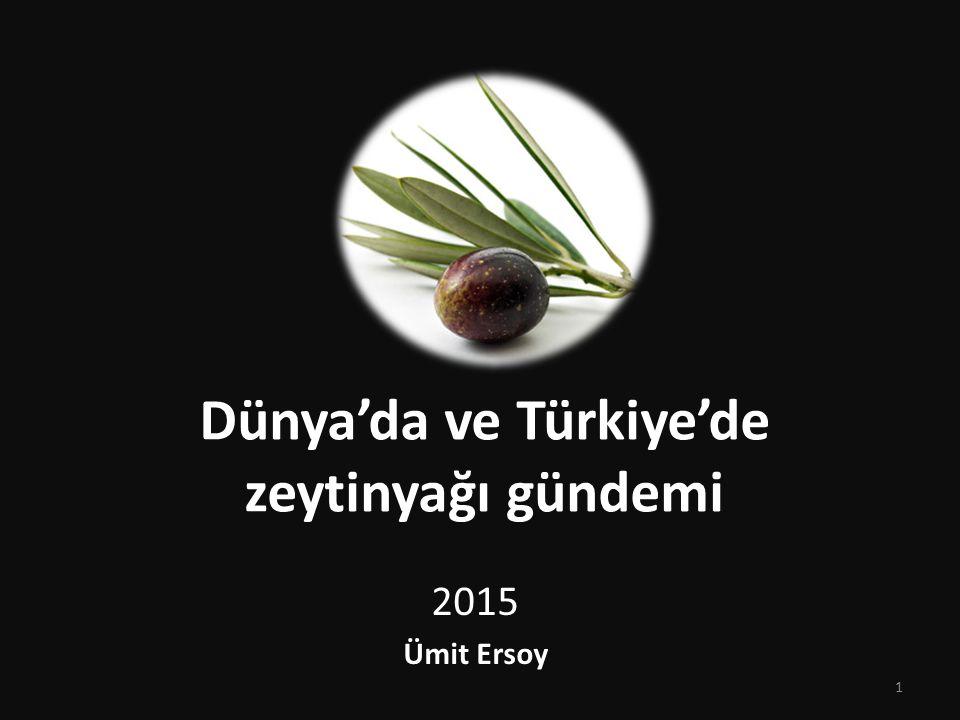 Dünya'da ve Türkiye'de zeytinyağı gündemi 2015 Ümit Ersoy 1