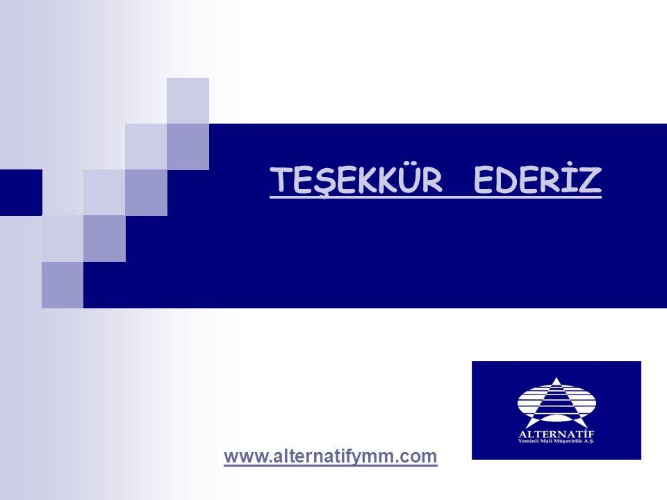 TEŞEKKÜR EDERİZ. www.alternatifymm.com