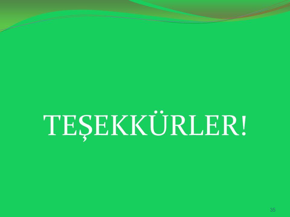 TEŞEKKÜRLER! 35