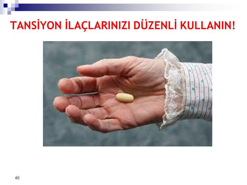 TANSİYON İLAÇLARINIZI DÜZENLİ KULLANIN! 46