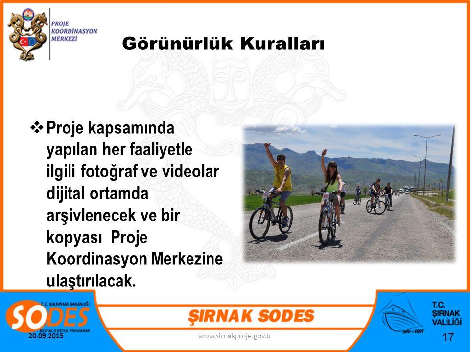 Görünürlük Kuralları PProje kapsamında yapılan her faaliyetle ilgili fotoğraf ve videolar dijital ortamda arşivlenecek ve bir kopyası Proje Koordina