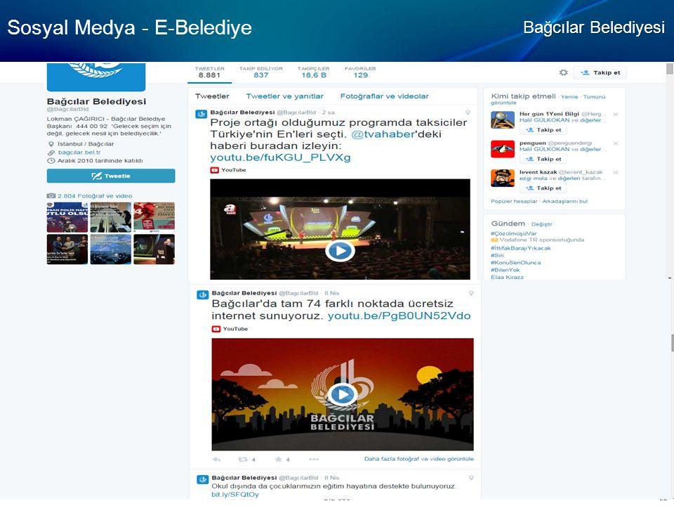 BIL-506 22 Sosyal Medya - E-Belediye Bağcılar Belediyesi
