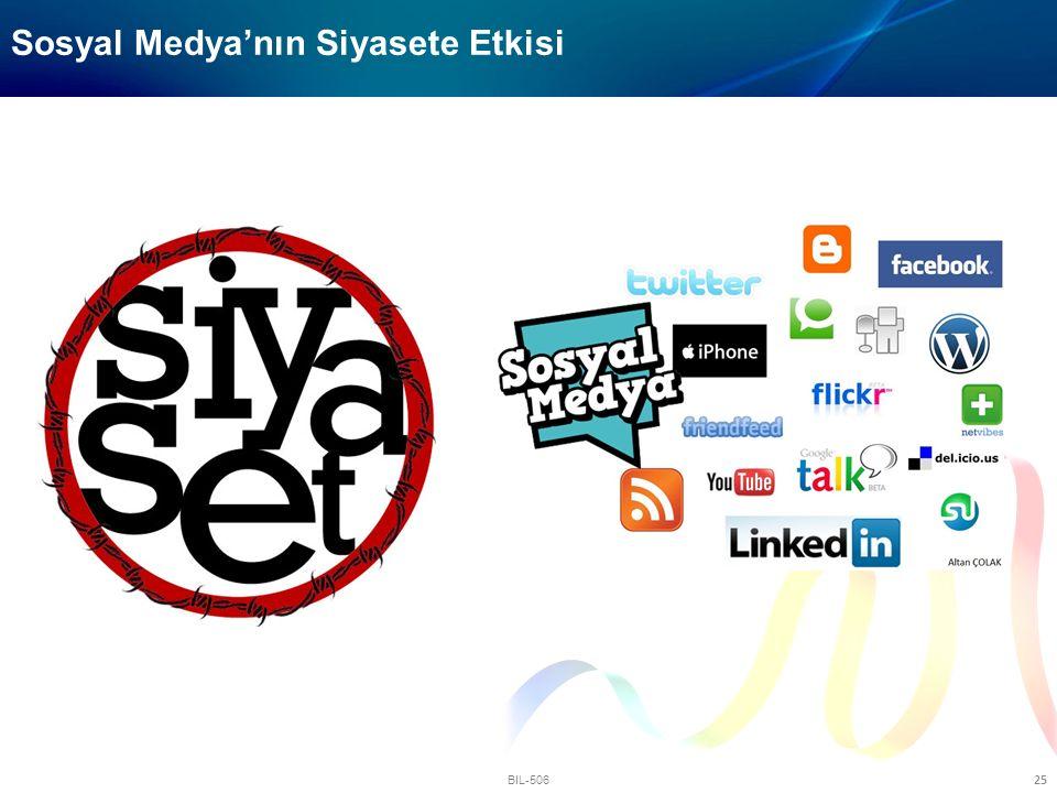 BIL-506 25 Sosyal Medya'nın Siyasete Etkisi