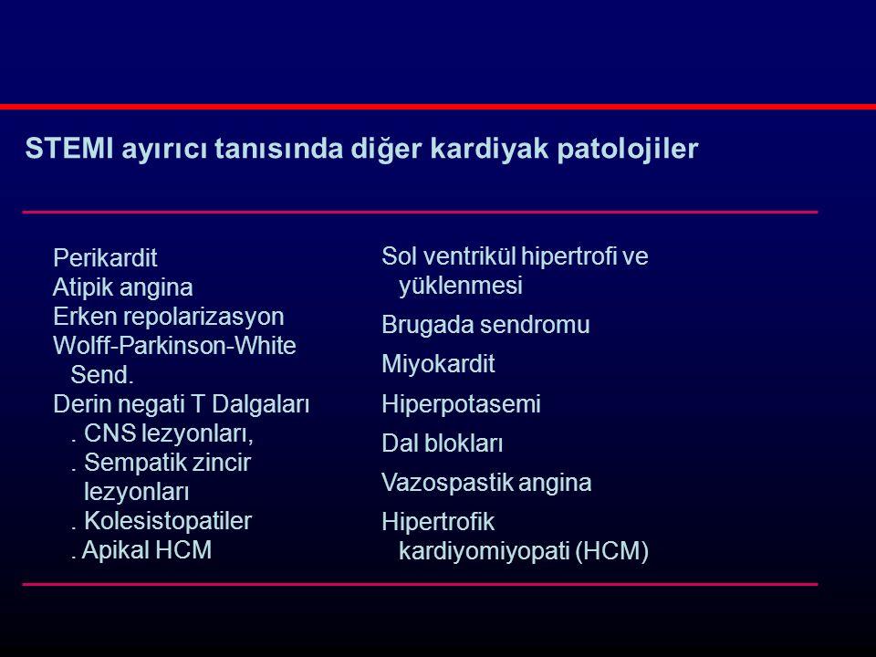 Perikardit Atipik angina Erken repolarizasyon Wolff-Parkinson-White Send.