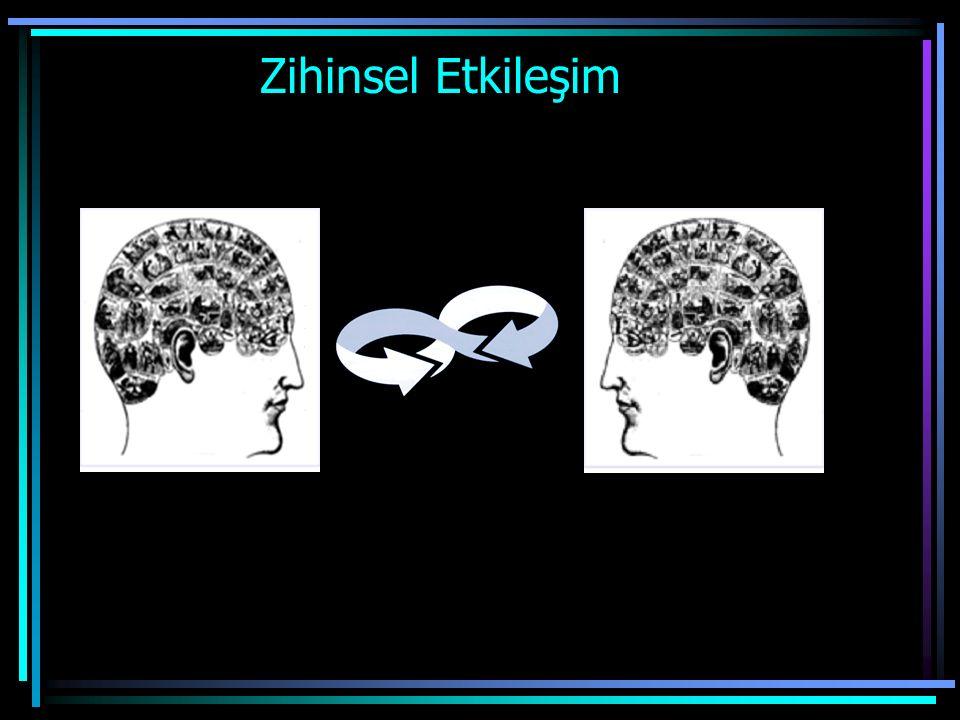 Zihinsel Etkileşim ve Çatışma Sosyal etkileşim sürecinde -Zihinsel etkileşim ve - Zihinsel çatışma yaşanır.