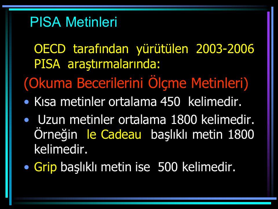 PIRLS Metinleri İlköğretim 4.