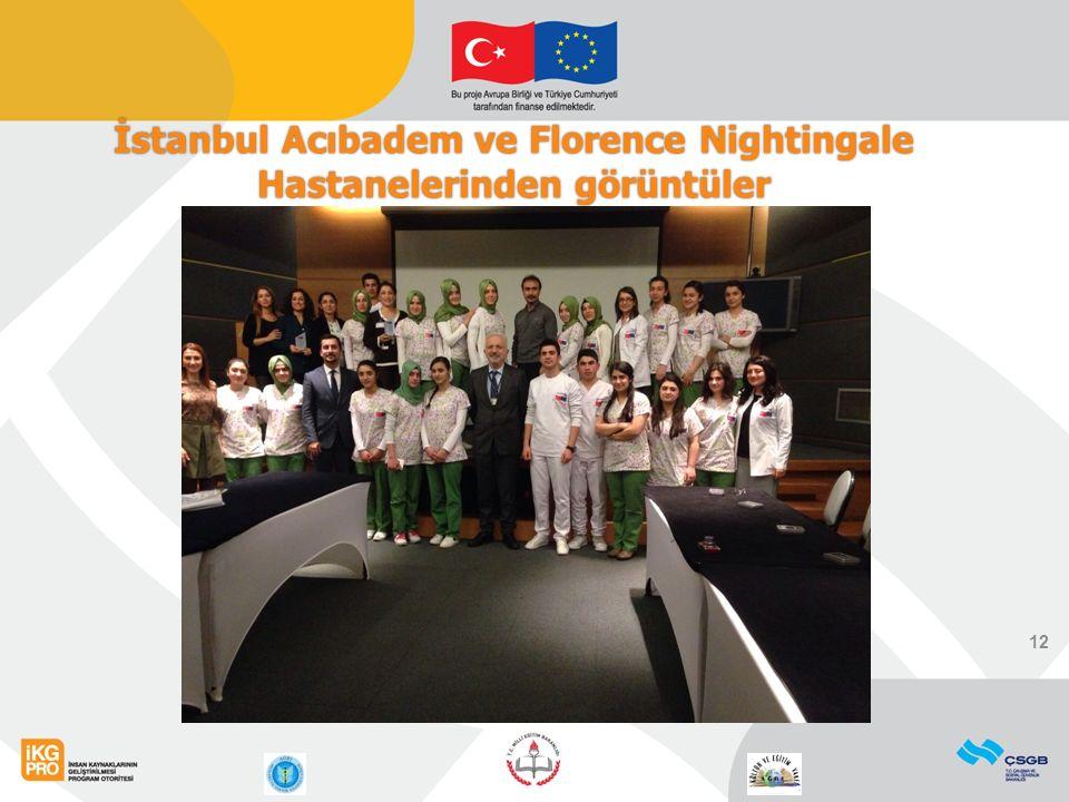 12 İstanbul Acıbadem ve Florence Nightingale Hastanelerinden görüntüler