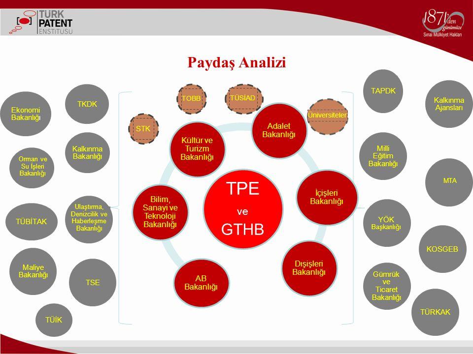 TPE ve GTHB Adalet Bakanlığı İçişleri Bakanlığı AB Bakanlığı Kültür ve Turizm Bakanlığı Ekonomi Bakanlığı Kalkınma Bakanlığı Kalkınma Ajansları Maliye