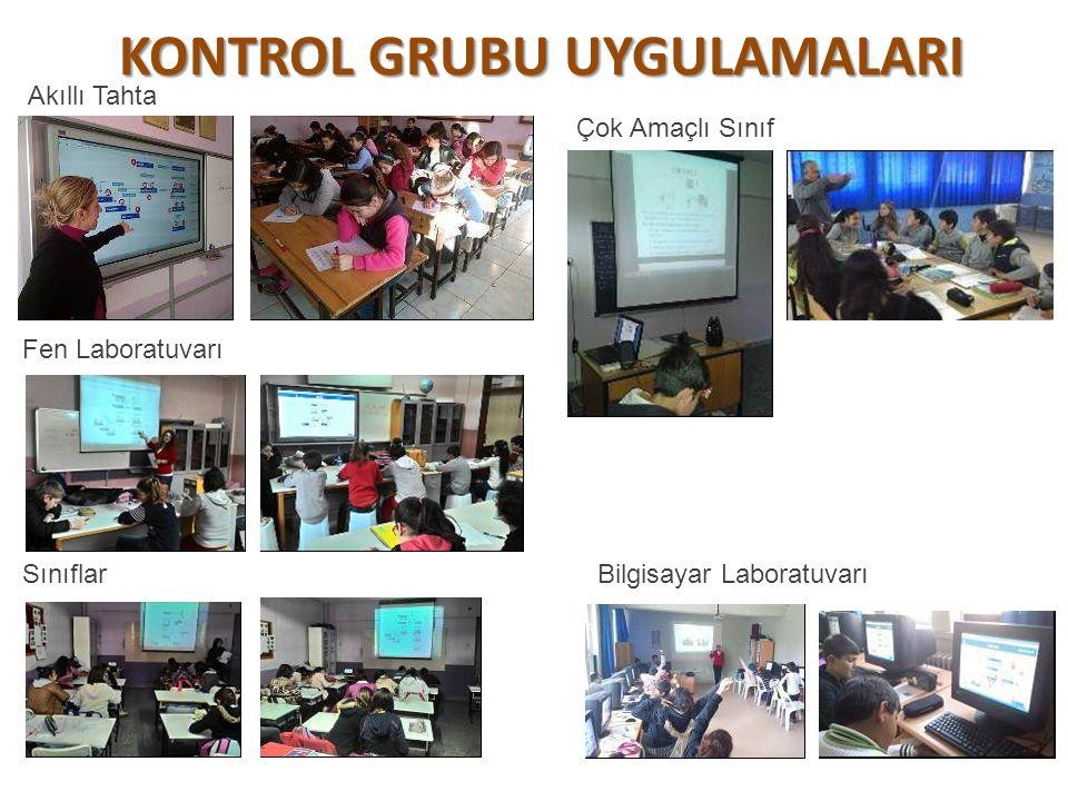 DENEY GRUBU UYGULAMALARI Bilgisayar Laboratuvarındaki Akıllı Tahtada Bilgisayar Laboratuvarlarında Classrooms