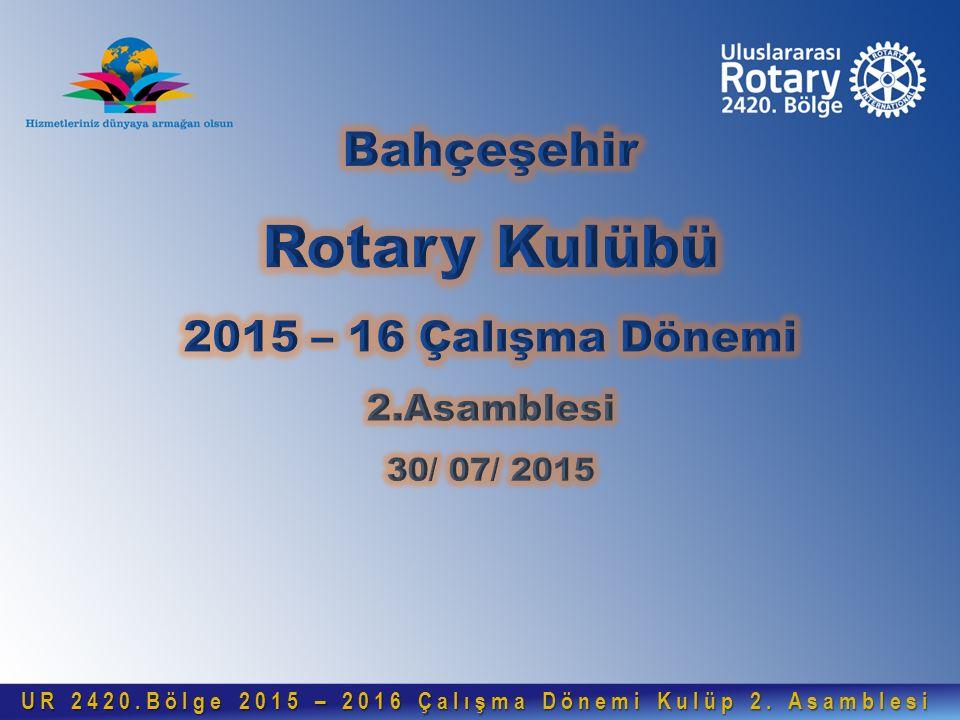 UR 2420.Bölge 2015 – 2016 Çalışma Dönemi Kulüp 2.