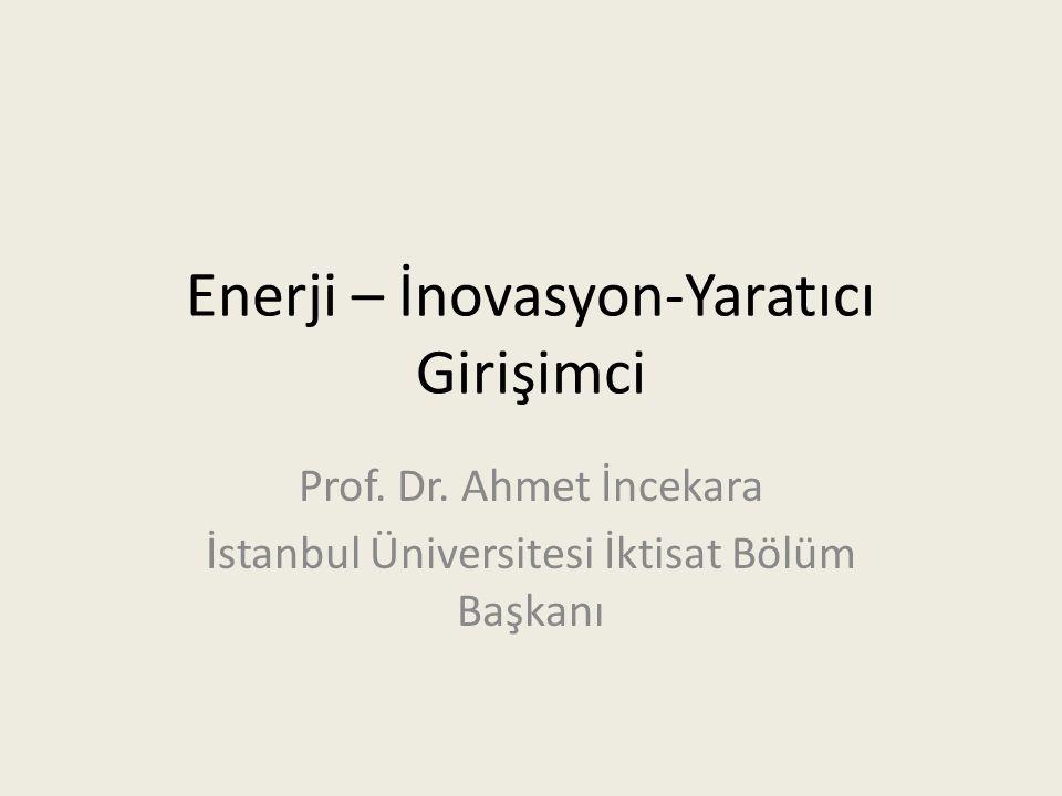 Enerji – İnovasyon-Yaratıcı Girişimci Prof.Dr.
