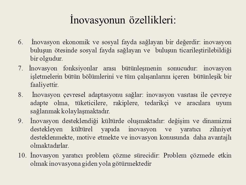 İnovasyonun özellikleri: 6.
