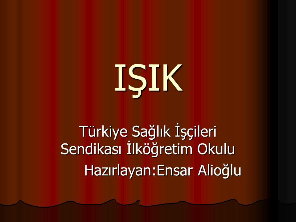 IŞIK Türkiye Sağlık İşçileri Sendikası İlköğretim Okulu Hazırlayan:Ensar Alioğlu