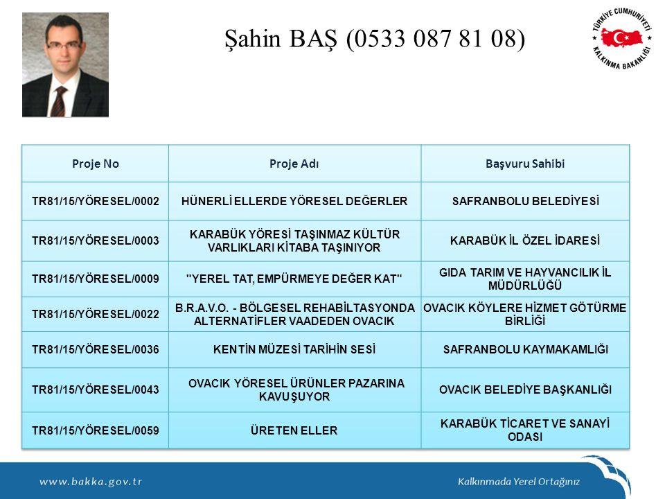 Şahin BAŞ (0533 087 81 08)
