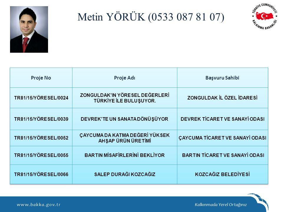 Metin YÖRÜK (0533 087 81 07)