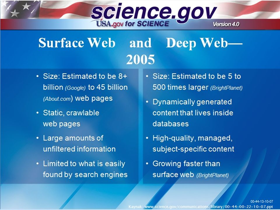 Kaynak: www.science.gov/communications/library/00-44-00-22-10-07.ppt