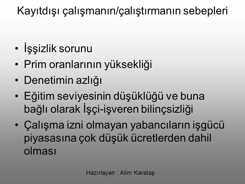 Hazırlayan : Alim Karataş KAYITDIŞI İSTİHDAMLA MÜCADELEDE SGK NELER YAPIYOR.