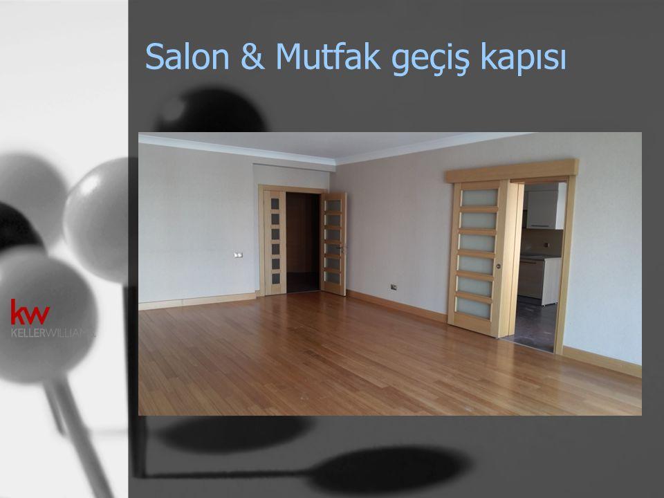 Salon & Mutfak geçiş kapısı