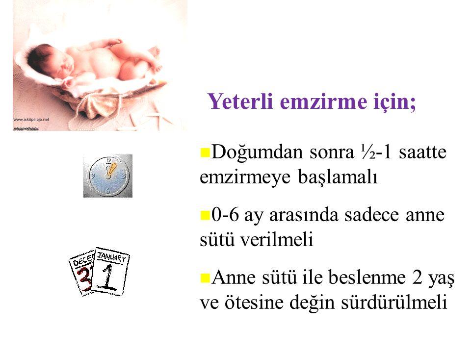 Türkiye'de kadınlarımızın %95'i bebeklerini emzirmeye başlıyor. ANCAK nitelikli olarak sürdüremiyor.