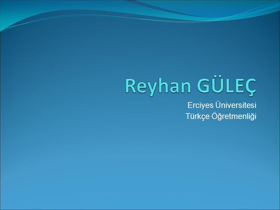 Erciyes Üniversitesi Türkçe Öğretmenliği
