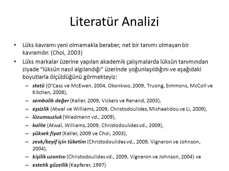 Literatür Analizi Lüks kavramı yeni olmamakla beraber, net bir tanımı olmayan bir kavramdır.