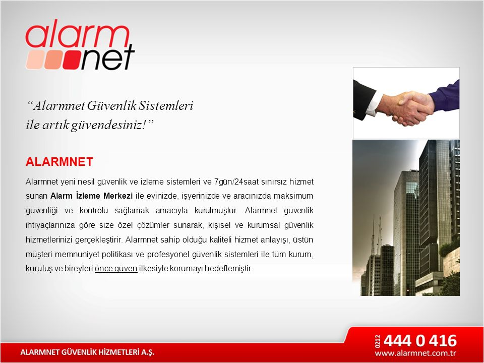 """""""Alarmnet Güvenlik Sistemleri ile artık güvendesiniz!"""" ALARMNET Alarmnet yeni nesil güvenlik ve izleme sistemleri ve 7gün/24saat sınırsız hizmet sunan"""