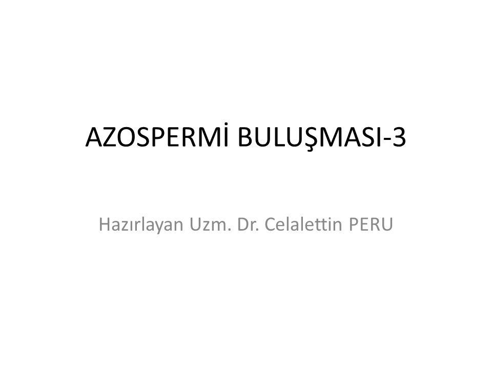 AZOSPERMİ BULUŞMASI-3 Hazırlayan Uzm. Dr. Celalettin PERU