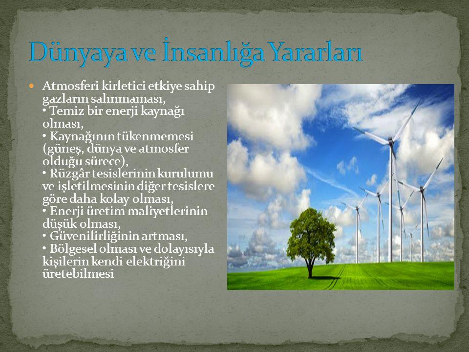 Rüzgâr türbinleri, rüzgârdaki kinetik enerjiyi önce mekanik enerjiye daha sonra da elektrik enerjisine dönüştüren sistemlerdir.