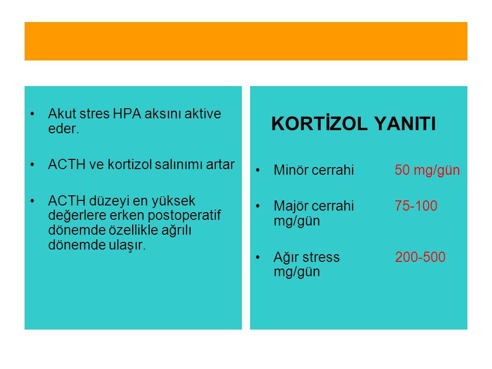 Akut stres HPA aksını aktive eder.