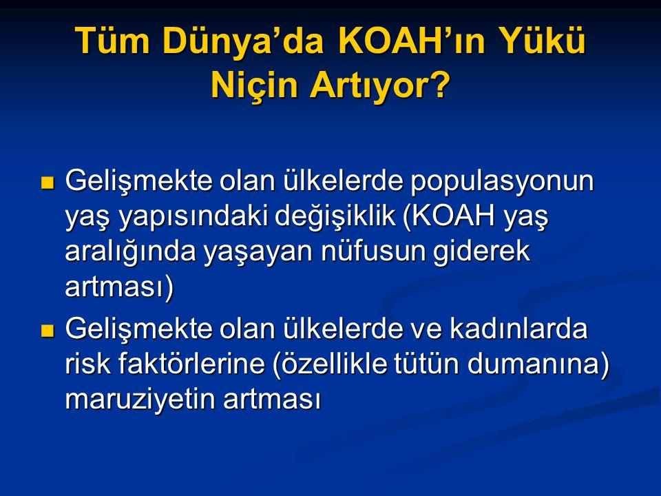 Tüm Dünya'da KOAH'ın Yükü Niçin Artıyor.